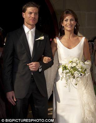 xabi alonso and nagore aramburu red carpet wedding
