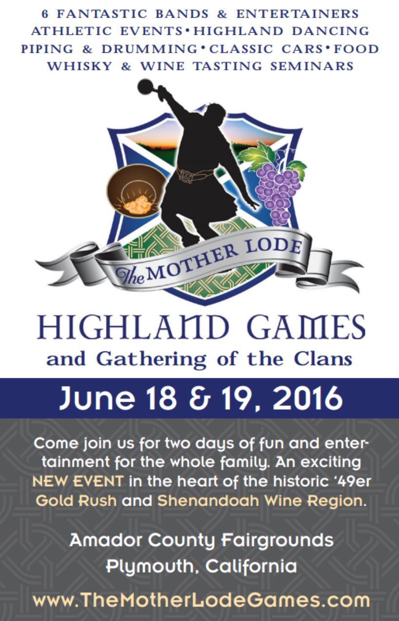 Mother Lode Highland Games - June 18 & 19