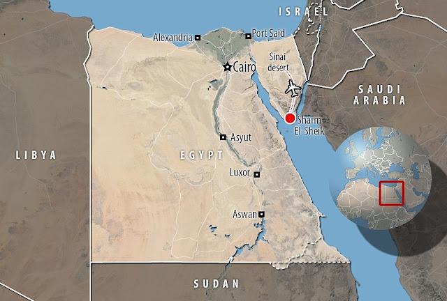 100 corpos retirados do jato de passageiros russo que se despenhou no Egito, com 224 a bordo