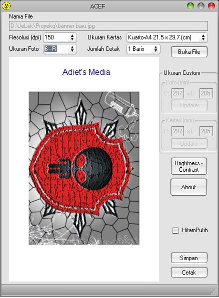 ACEF ( Aplikasi Cetak Foto ) v2.0