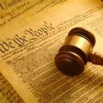 Gavel and Constitution - We the People
