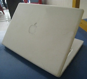 jual macbook white second 2,1