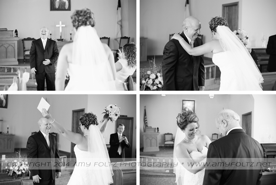 first look with bride and her father