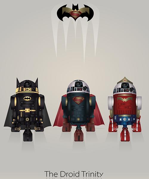 02-Droid-Trinity-Steve-Berrington-Batman-v-Superman-and-their-Superhero-R2-D2-Friends-www-designstack-co