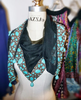 Atelier AZZA jeweled shawl.
