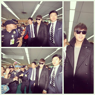 Lee Min Ho arrives in Manila (courtesy of Kat De Castro)