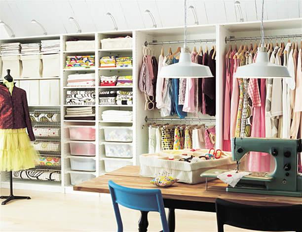 banheiros com closet 13 Decoração de Closet