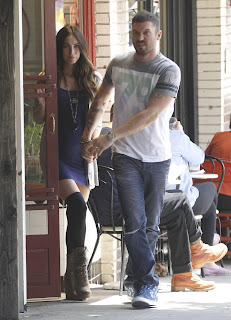 Megan Fox Leaving a Restaurant in Los Feliz with Brian Austin Green