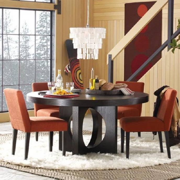 Dining room sets for small spaces at uniquedinetteny com long island new york dining room - Round dining table small space model ...
