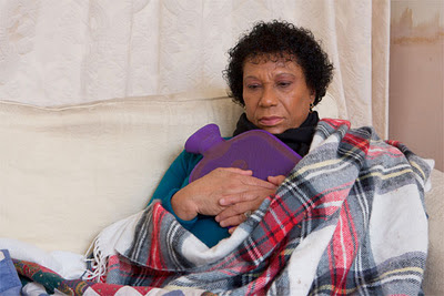 Elderly woman in fuel poverty