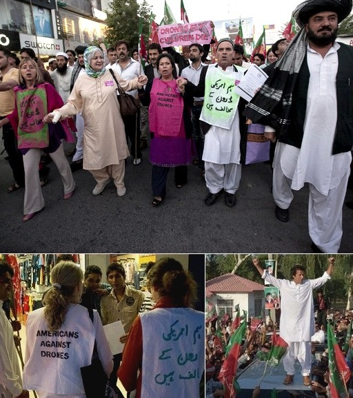 Peace march in Pakistan protesting drone attacks