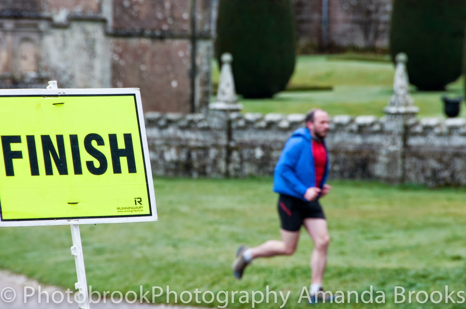 Warming up at Lanhydrock Park Run