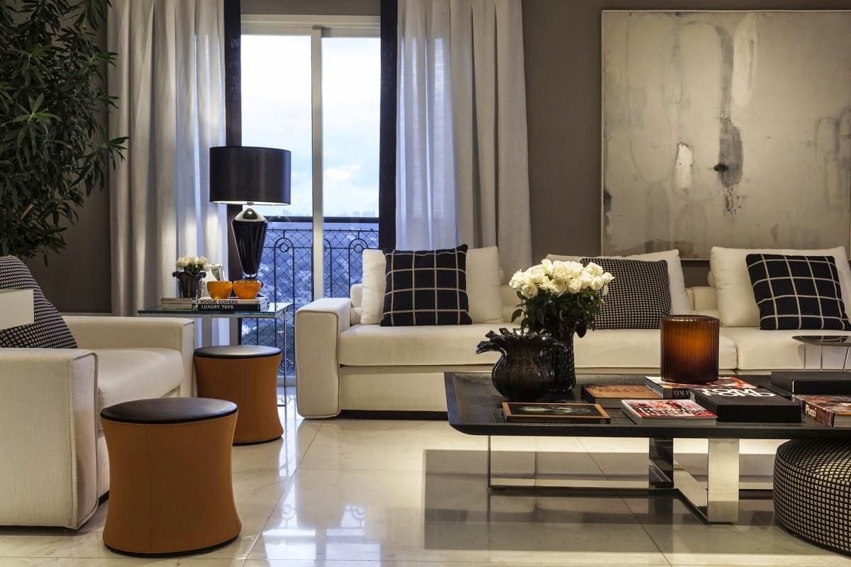 Ambientes sofisticados com estilo contempor neo e cl ssico for Sala estilo contemporaneo