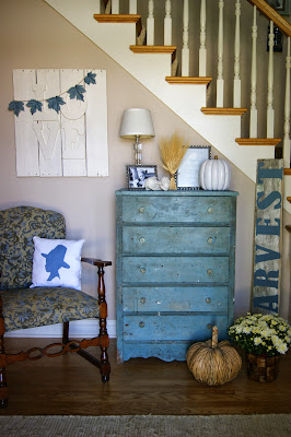 fall foyer decorating ideas