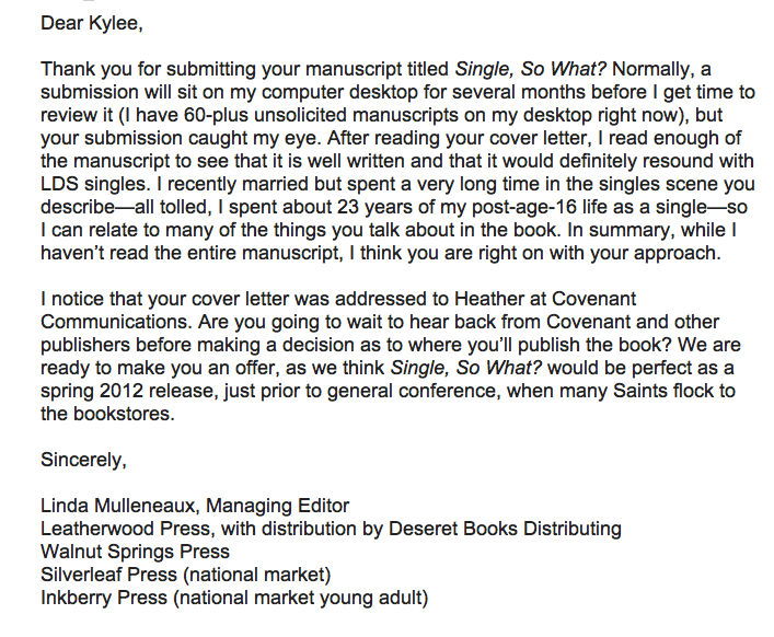 sample cover letter to music publisher