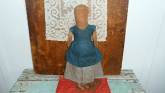 """Miss Martha"" hand made by Norma Schneeman - one of a kind- 14 inches"