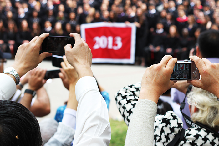 Capturing a Harvard graduation