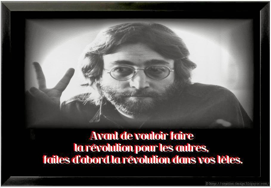 Belle citation john lennon en image