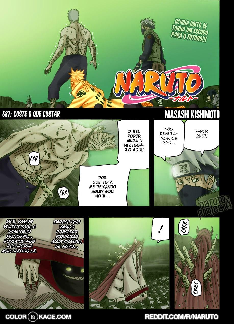 Naruto 687 Mangá Colorido leitura online