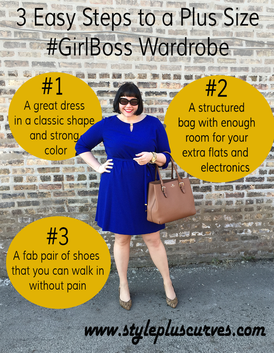 3 Easy Steps to a Plus Size #GirlBoss Wardrobe by Amber from Style Plus Curves
