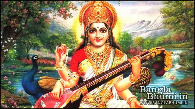 Maa Saraswati Indian God 1366x768 Wide Wallpaper
