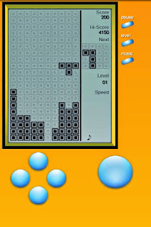 Screenshots of the Tetris Classic Brick Game for Android tablet, phone.