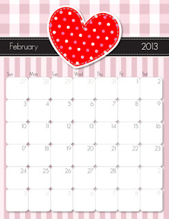 to month 2013 calendar she has a different design for each month i