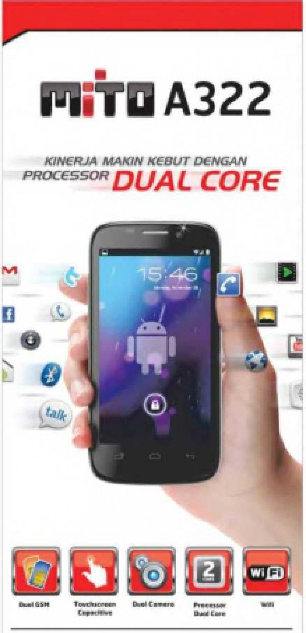 Harga Mito A322 - Android Smartphone