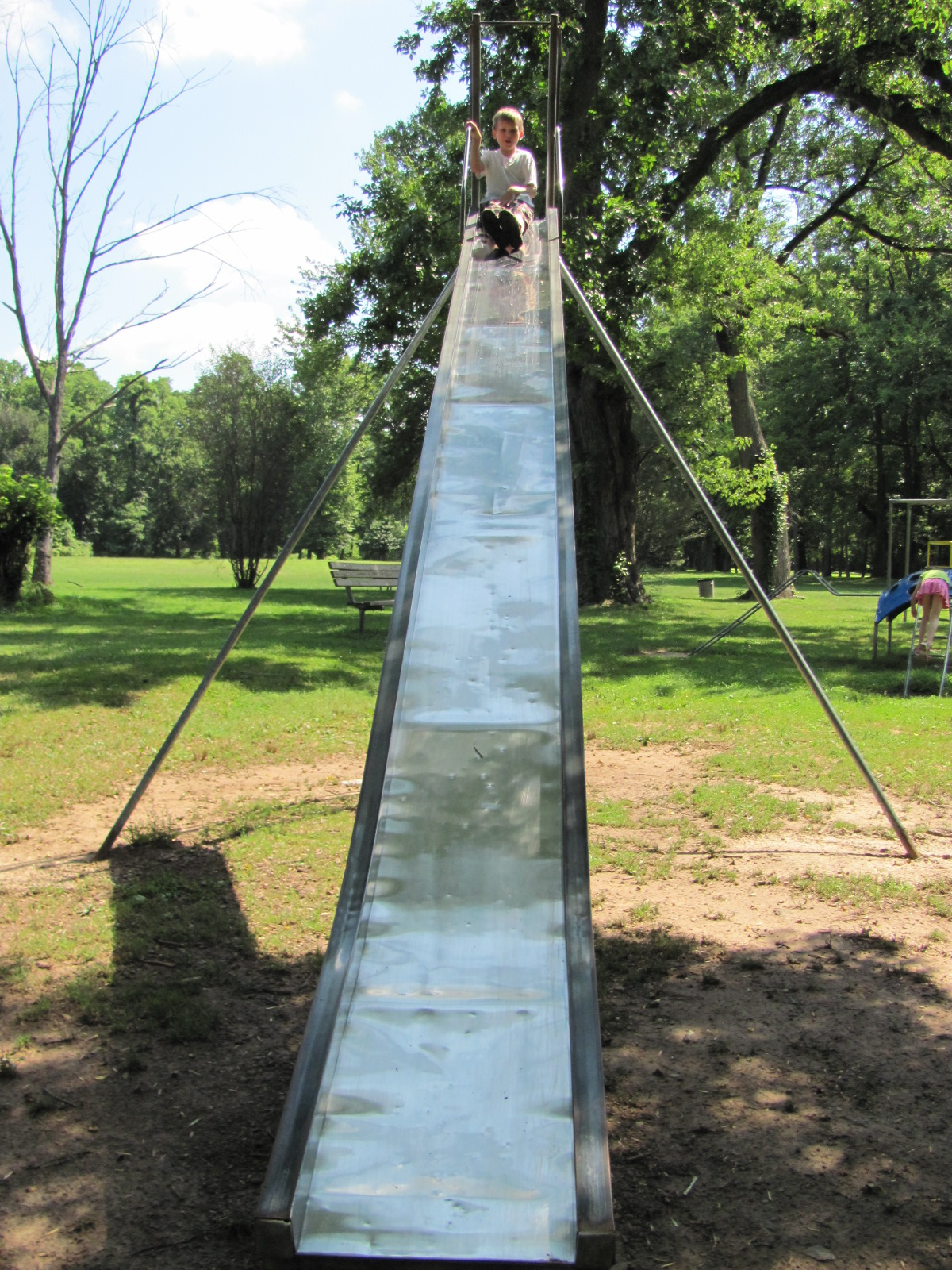 Best Old School Semi Dangerous Metal Slide Playground