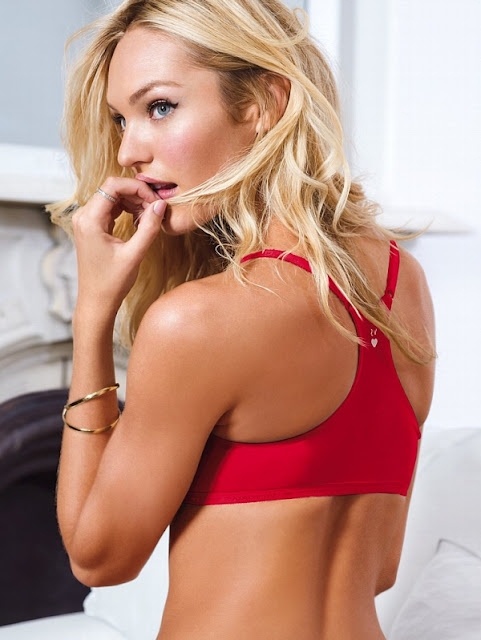 Beautiful red sexy victorias secret racerback bra