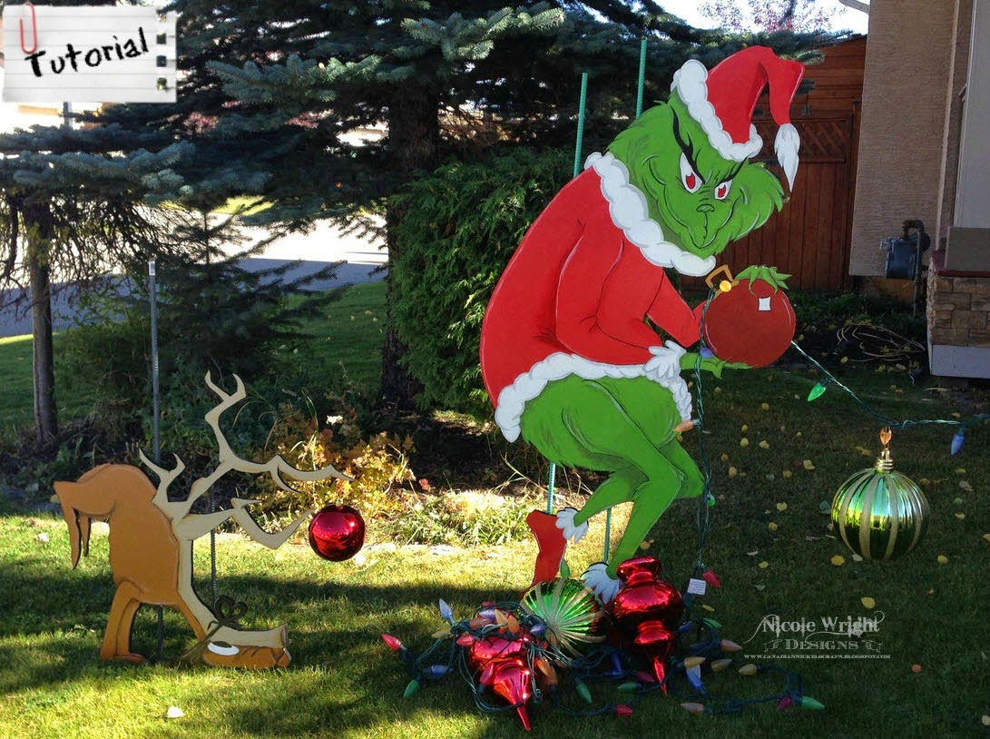 Grinch stealing christmas lights wood pattern share the knownledge
