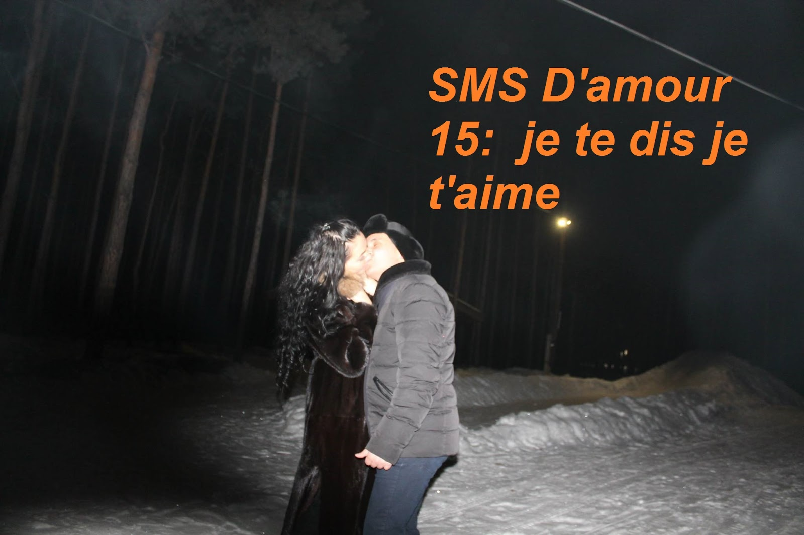 SMS D'amour 15  je te dis je t'aime