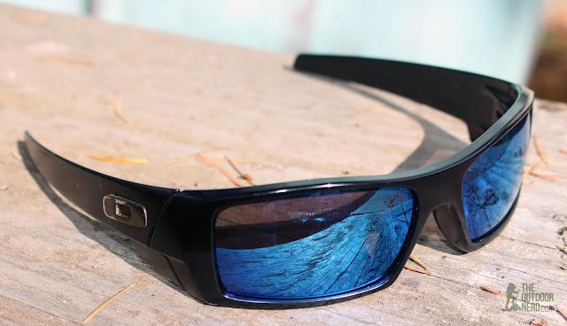 Walleva Replacement Lenses For Oakley GasCan Sunglasses - Blue Lenses 1