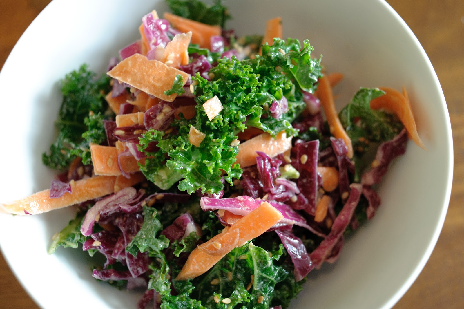 The Frugal Girlmet: Sesame Kale Salad