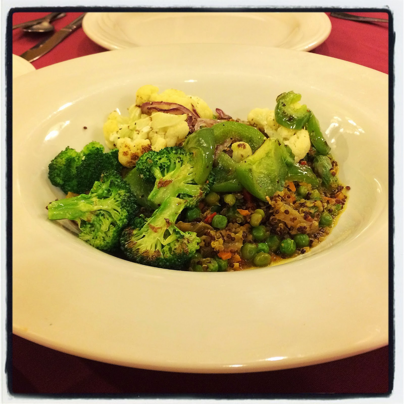 Vegetarian Vegan Quinoa Vegetable Stir Fry at The Bavarian Inn Restaurant Frankenmuth, Michigan Veg Food Options