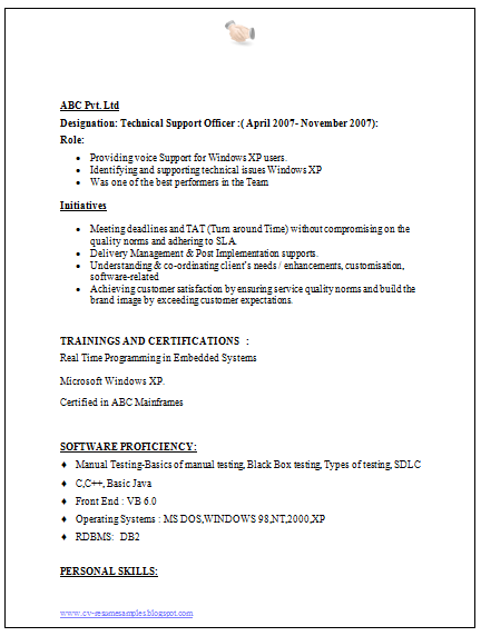 Over 10000 CV and Resume Samples with Free Download ...
