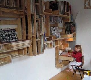 estanteria con palets