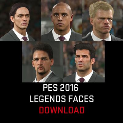 PES 2016 Legends Facepack dan Kits dari DLC 2.0