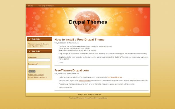 Free Grunge Orange Business Drupal Style Theme