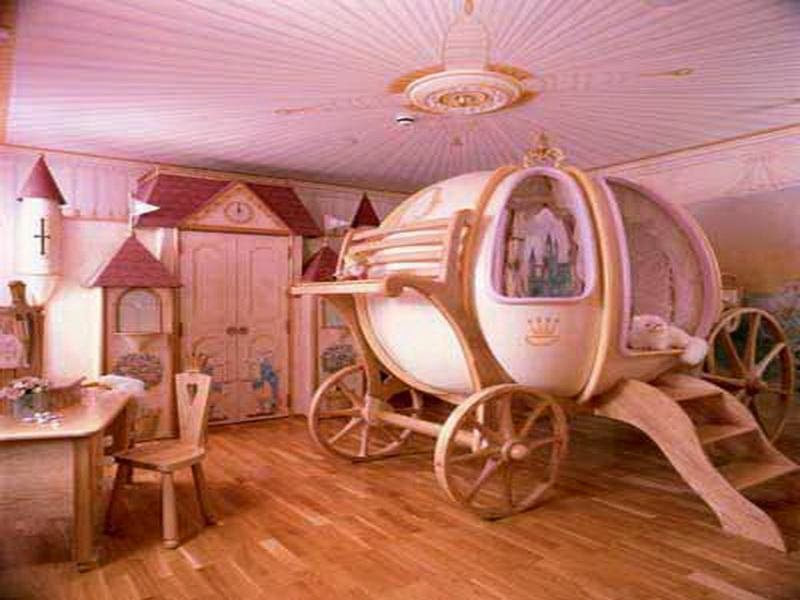 tempat tidur anak perempuan unik
