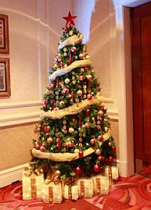 Multinotas rboles de navidad cl sicos y modernos - Como decorar un arbol de navidad azul ...