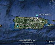 Puerto Rico Meteor 14MAY2013 v.1 C 2013 LunarMeteoriteHunter / Google Earth