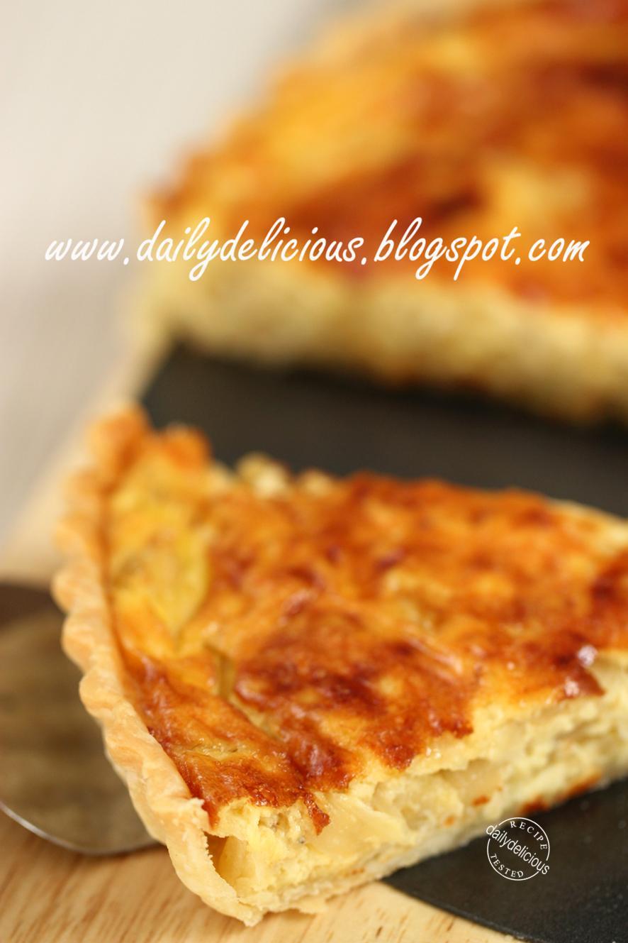 dailydelicious: Caramelized Onion Quiche: Delicious breakfast quiche