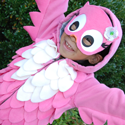 pink owl Halloween costume tutorial