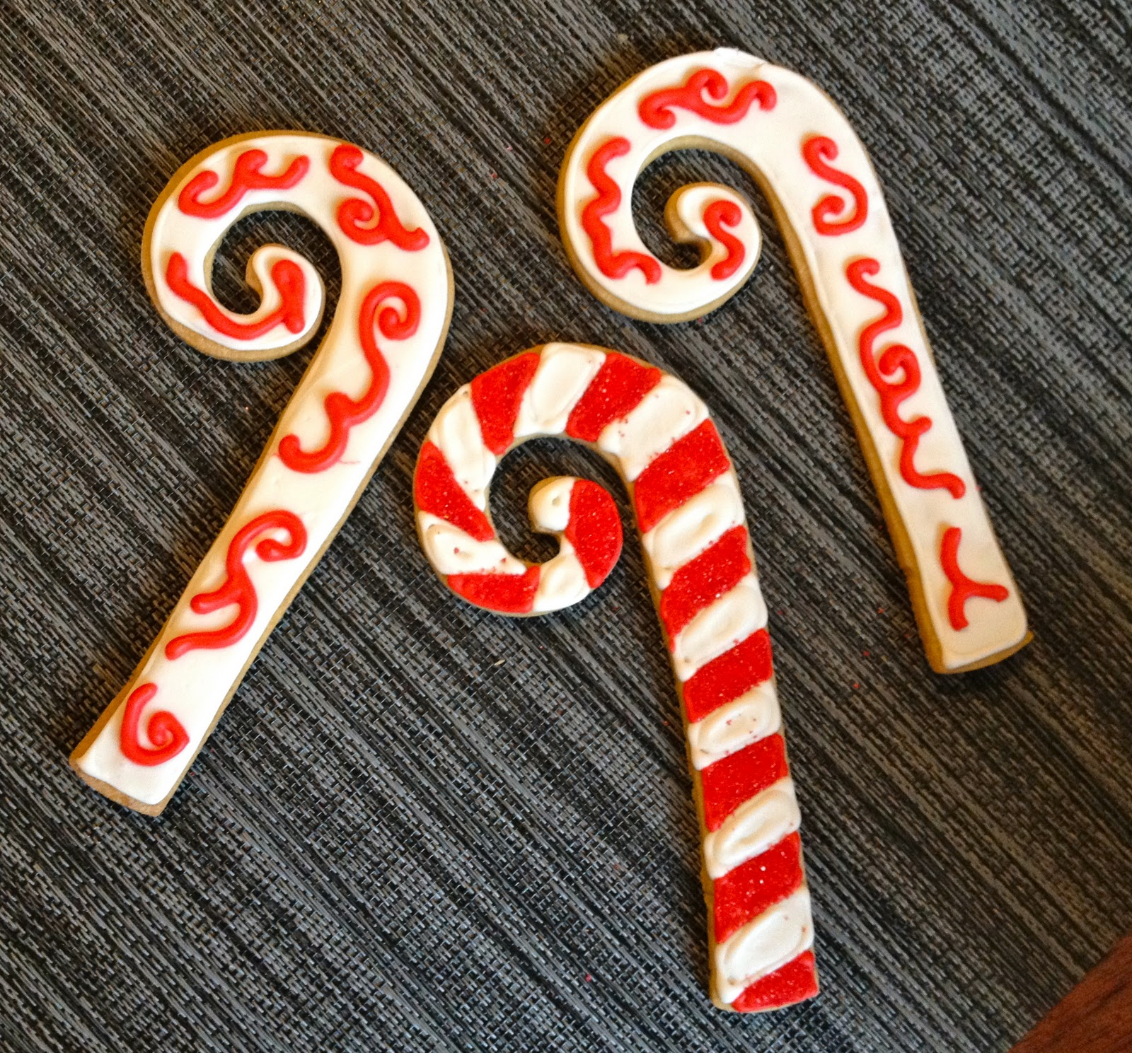 Blonde In The Kitchen Decorated Candy Cane Cookies