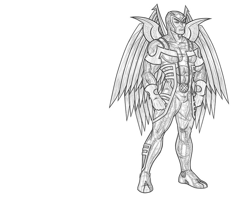 Printable Archangel Character Coloring Pages title=
