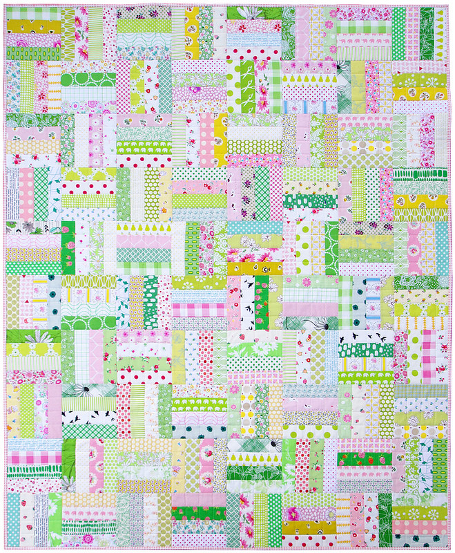 Pink Lemonade ~ A Finished Quilt | Red Pepper Quilts 2015