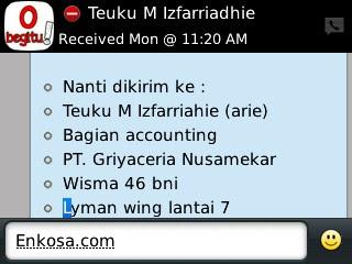 alamat lengkap untuk pengiriman jersey Testimoni Teuku M Izfarriahie (arie) enkosa sport toko online baju bola terpercaya