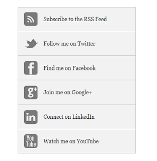 Black & White Social Media Sharing Widget