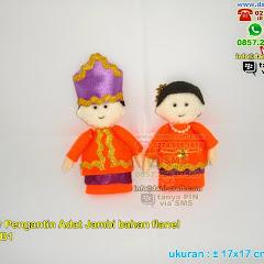 Boneka Pengantin Adat Jambi Bahan Flanel